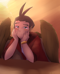 Winged Apollo by Alomaire