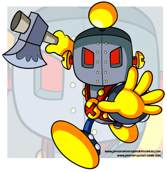 Commission - Iron Mask Bomber by JamesmanTheRegenold