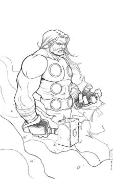 Thor Pencils by TPollockJR