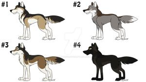 Auction: Naturalistic Wolf Adoptables [ON SALE!] by JayZX535