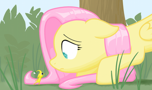 Fluttershy's Discovery by TopGull