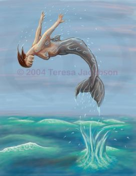 Leaping Mermaid by kalany