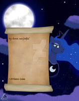 Poster for a friend Luna Letter by SpiderZed