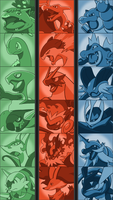 Final Starter Evolutions - Poster by Tails19950