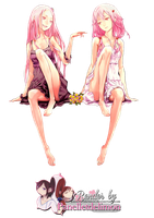 Render: Guilty Crown - Mana and Inori by Panelletdelimon