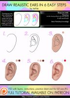 How To Draw Realistic Ears by itaXita