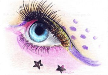 Color eye by WitchiArt