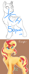 Pony YCH- 50 Points (CLOSED) by 8BitGalaxy