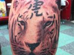 black and grey tiger  tattoo by dv8ordeath