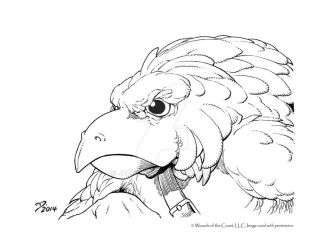 Aarakocra Closeup by JeffDee