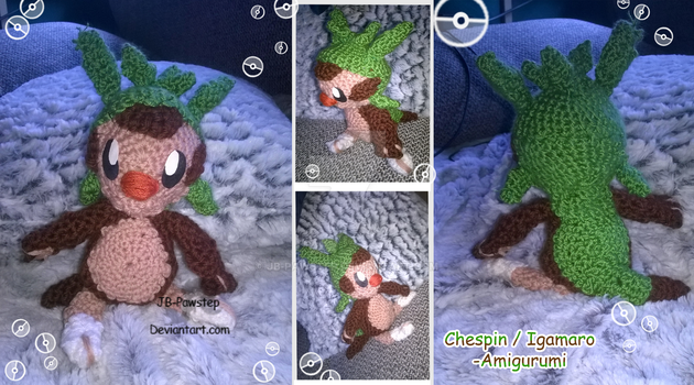 Chespin -  Amigurumi by JB-Pawstep