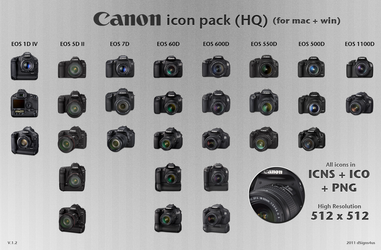Canon DSLR Icon Pack HQ 1.2 by dSigns4us