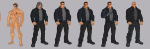 1984/2015 Terminator T800 Battle Damage Stages by BongzBerry