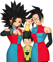 Kale/Caulifla (Android 21 Styled) by Snoopsahoy