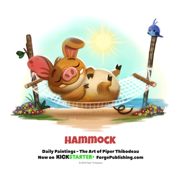 Day 1371. Hammock by Cryptid-Creations