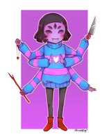 ClothesSwap! Muffet - Frisk by Shuwappy