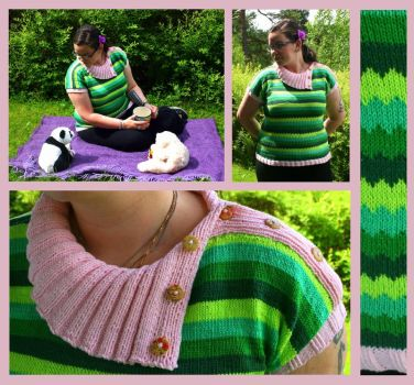 Picnic zigzag summer top by KnitLizzy