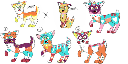 unicat breeding Batch1-OPEN-(2/4) (prices reduced) by skyfeather0066
