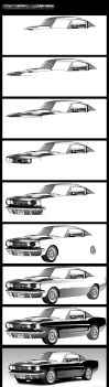 Ford Mustang Vector WIPs by Bobby-Sandhu