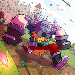 Bad day at the castle by ZeTrystan