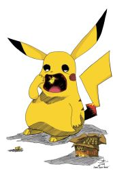 Pikachu Eating Pika-Peeps by phillipginn