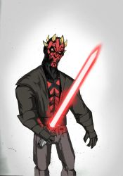 OLD MAUL SKETCH by Sabrerine911