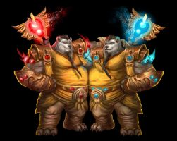 ...Commission: Pandaren Monks... by ShadowPriest