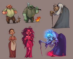 Cursed Villagers by ancalinar