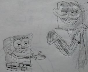 SpongeBob Meets the Strangler sketch by coconuts777