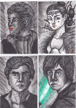 ATC Star Wars Characters by ChristinePresley