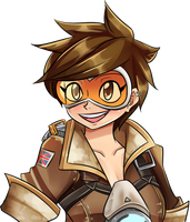 Tracer Bust by MintAnnComics