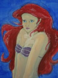 Oil Ariel work in progress by jask8ergirl