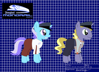 Monorail Driver Cast Member outfits by Avastindy
