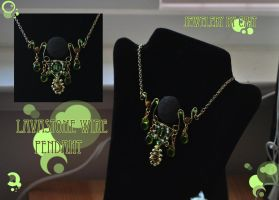 Lavastone Wire Pendant by tanyquil