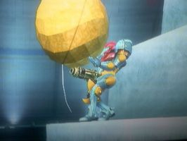 Samus Holds Party Ball by Guan-pued