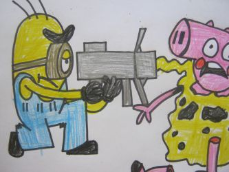 despicable me minions kills peppa pig. by citytoon
