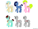 More pony adopts! by MoonGazerThePony
