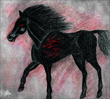 Black Horse :: gift by Wol4ica
