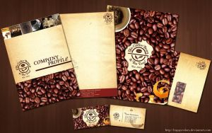 Coffee Bean Corporate Design by happycolors