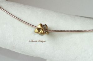 Sterling Silver 3mm Triforce Charm LOZ Handsculpt by TorresDesigns