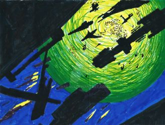 Some Sort of Star Ships in Space - 2006 by Nails43