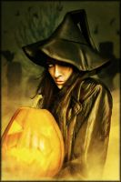 Pumpkin Witch by brandrificus