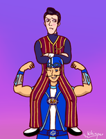 Sportacus and Robbie by WhispersGhost
