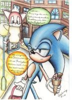 old sonic and chip shopping by supersonicartdrawer