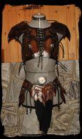 Amazone leather outfit by Lagueuse