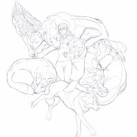 WIP: Wolf Pile by Phantomania