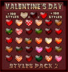 Valentine's Day  Styles Pack 2 by Laurent-Dubus