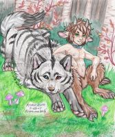 The Satyr and the Wolf by NatsumeWolf