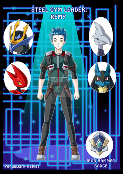 Steel Gym leader .:Remy:. by PEQUEDARK-VELVET