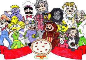 Chuck E. Cheese and Showbiz Pizza by ClariceElizabeth